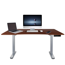 AVANTE Curve Sit/Stand Motorised Height Adjustable Desk 160cm Walnut/Silver by Avante