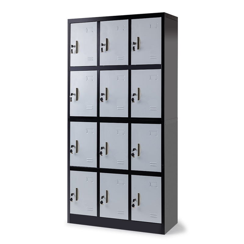 Baumr-AG 12-Door Gym Lockers Steel Locker Storage Office Metal Cabinet Black by Baumr-AG