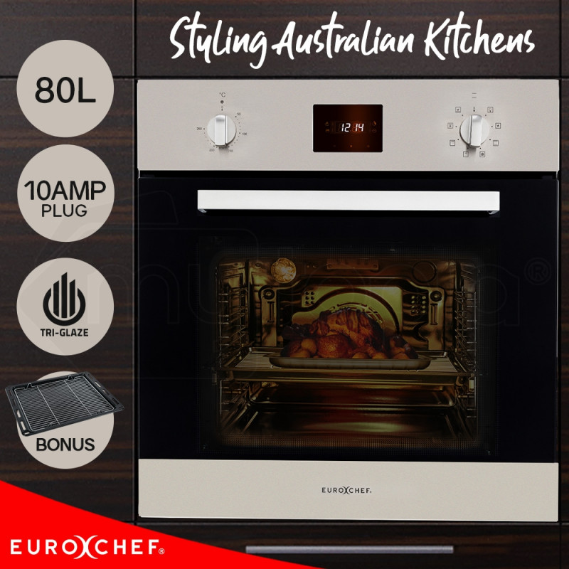 EuroChef  60cm 80L 8 Functions Built In Electric Wall Oven by EuroChef