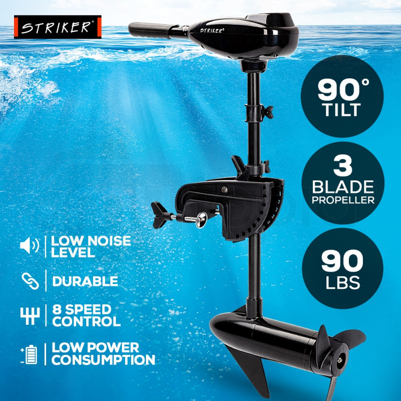 90LBS Electric Trolling Motor Inflatable Boat Outboard Engine Fishing Marine by Striker