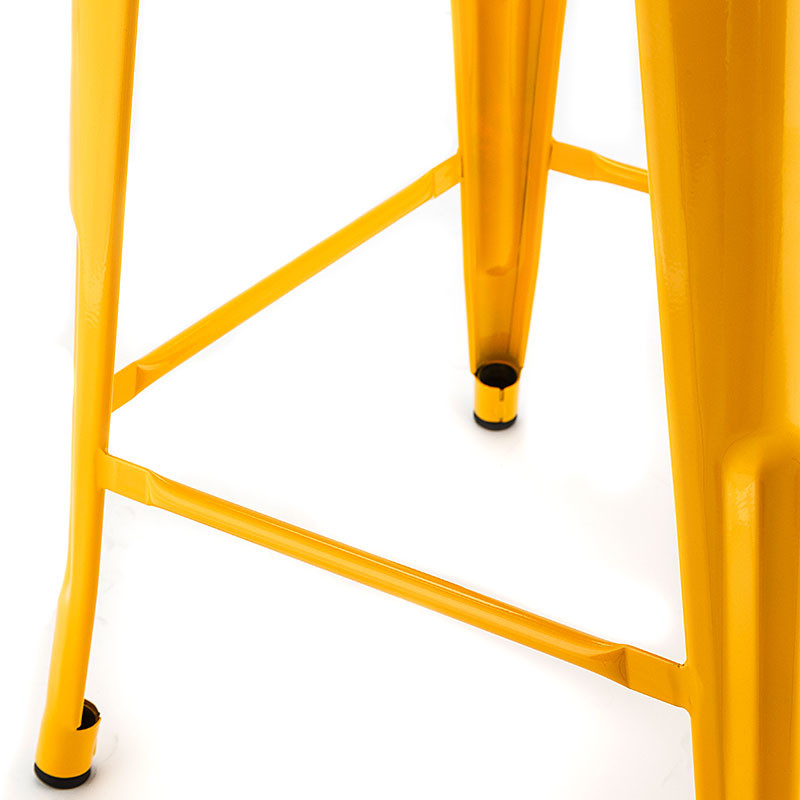 4 x REPLICA TOLIX Bar Stools Steel Metal Kitchen 66cm Dining Home Cafe Yellow by Replica