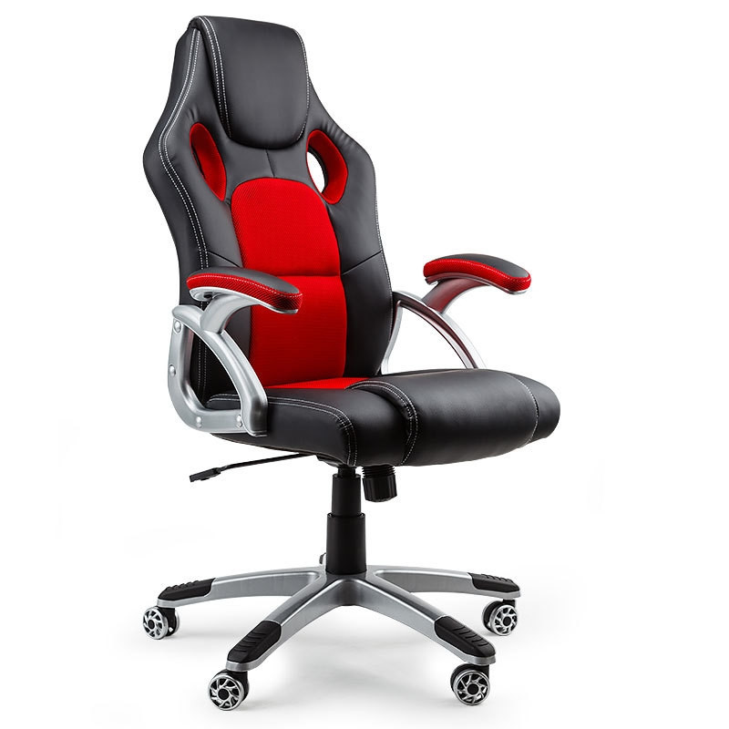 OVERDRIVE Racing Office Chair Seat Executive Computer Gaming PU Leather Deluxe by Overdrive