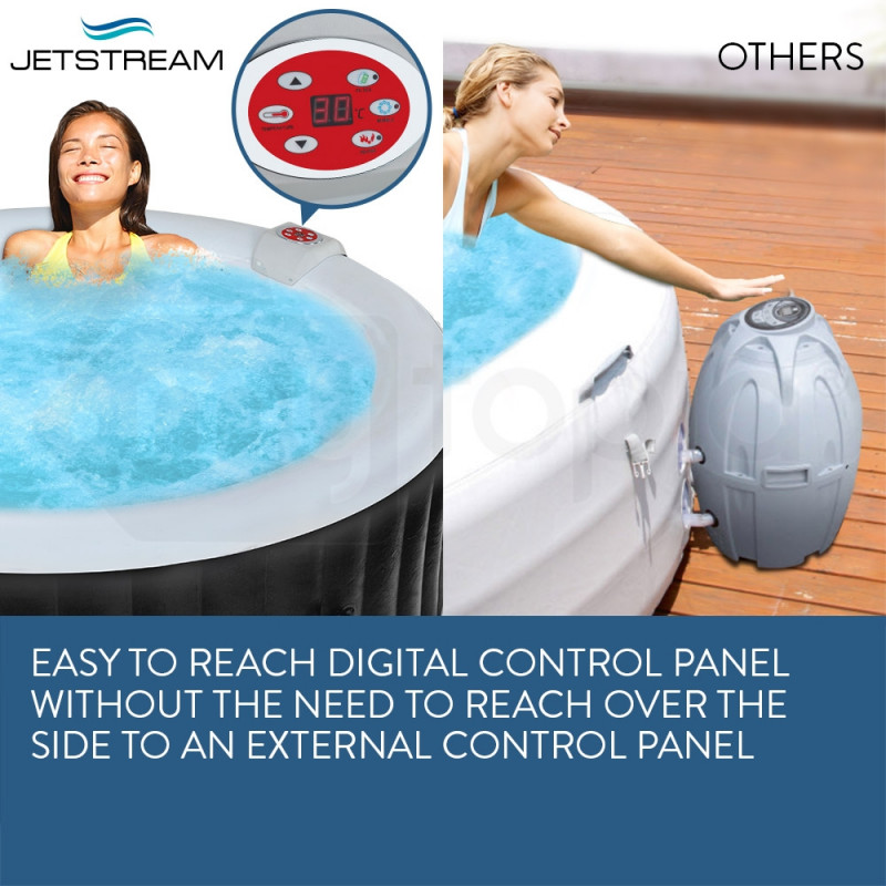Jetstream Inflatable Spa Massage Portable Jacuzzi Hot Tub Outdoor Pool Bath Swim by Jetstream