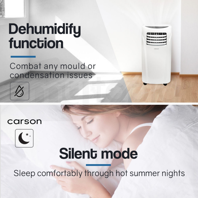 CARSON 4in1 Portable Air Conditioner 14000BTU Mobile Fan Cooler Cooling by Carson