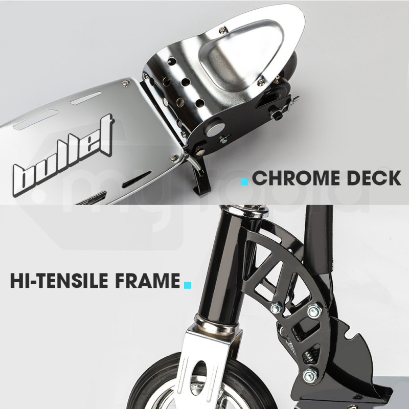 Chrome Electric Scooter Ride-On Toys -TRZ  by BULLET