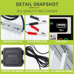 G&P 12V 160W Folding Portable Mono Solar Panel Kit Caravan Camping Power USB by G&P