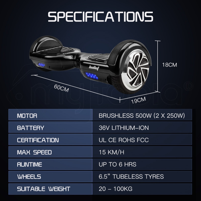 Black Self-Balancing Electric Scooter - SX-3000 Series II  by BULLET