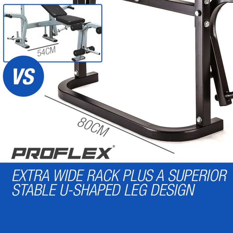 Proflex 7 in 1 Weight Bench Multi Station Home Gym- B300 by Proflex
