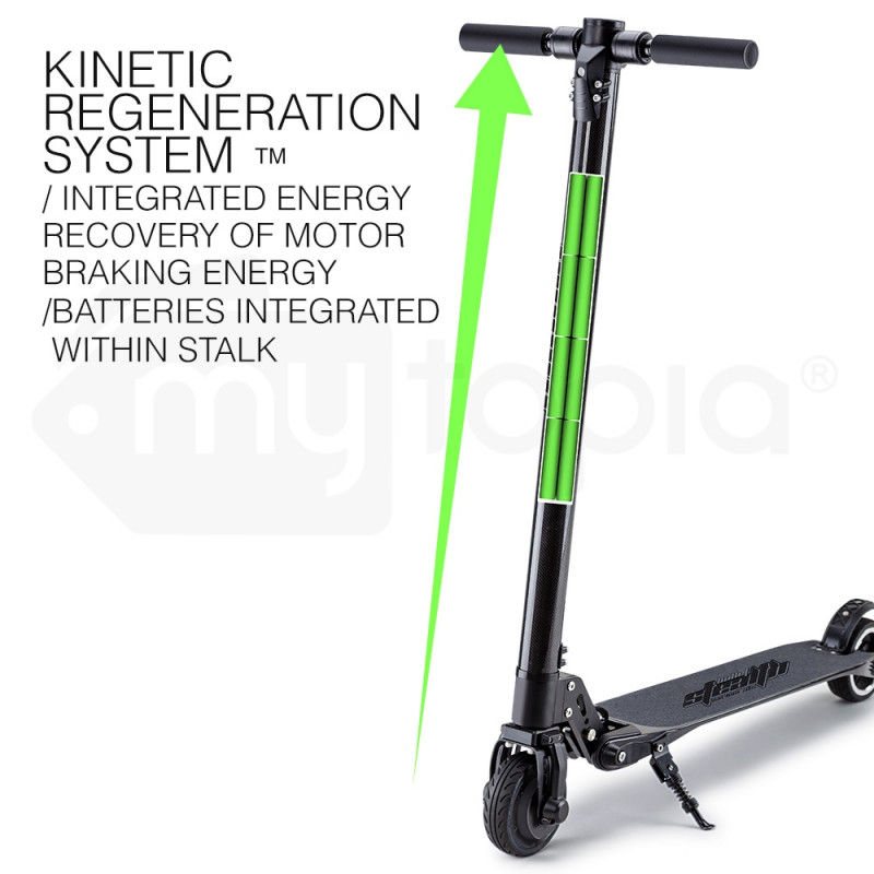 BULLET® 300W Folding Portable Electric Scooter For Adults- Stealth Carbon II™ by Bullet