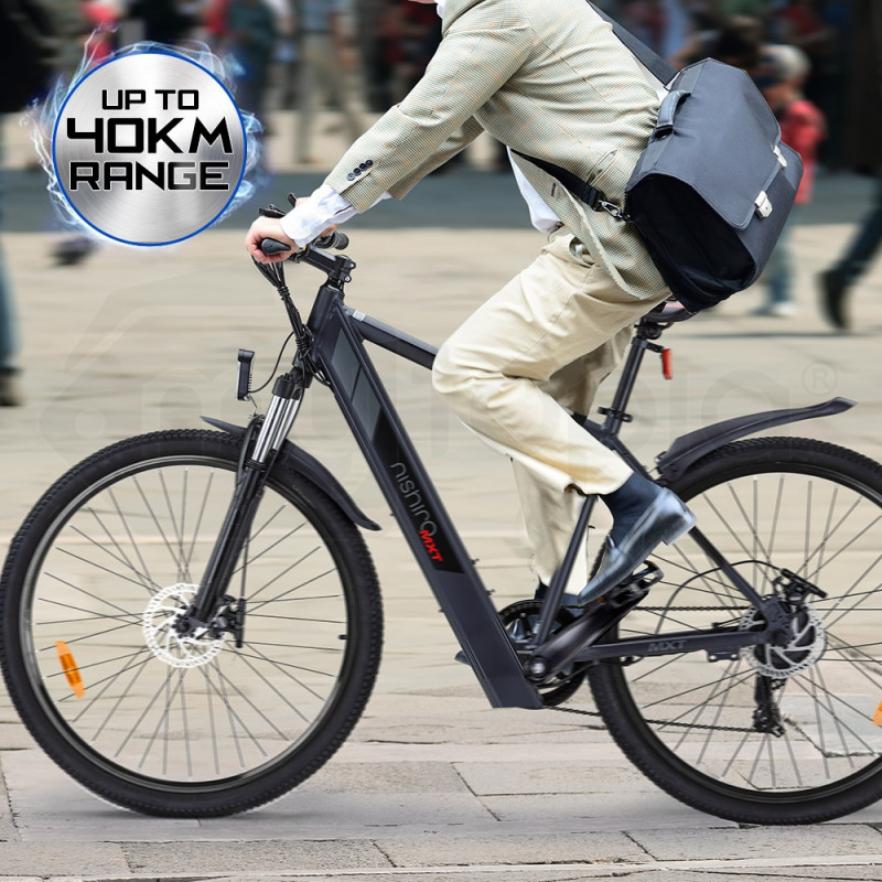 Nishiro Electric Bike eBike e-Bike Battery Motorized Mountain Bicycle 36V 250W by Nishiro