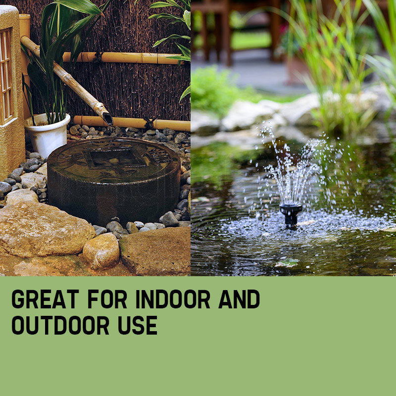 PROTEGE 5W Solar Powered Fountain Submersible Water Pump Panel Kit Garden Pond by Protege