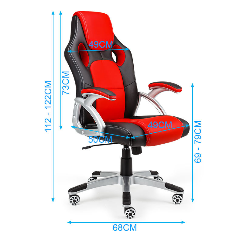 OVERDRIVE Racing Office Chair - Seat Executive Computer Gaming PU Leather Deluxe by Overdrive