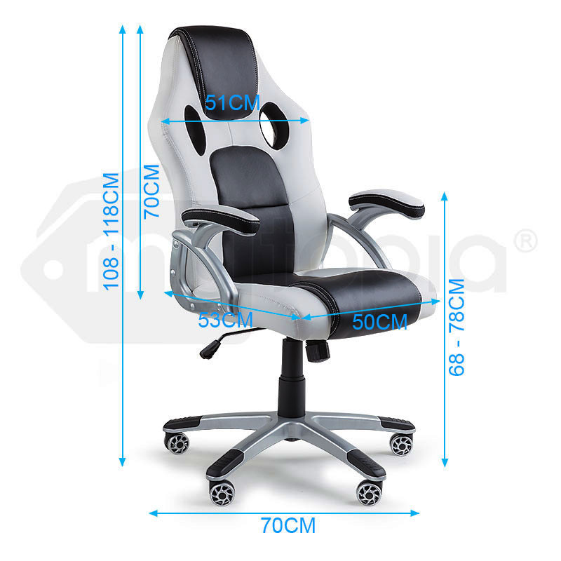 OVERDRIVE Racing Office Chair - Seat Executive Computer Gaming Deluxe PU Leather by Overdrive