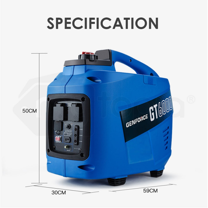GENFORCE Inverter Generator 3700Watts Max 3200Watts Rated Portable Camping Petrol by Genforce
