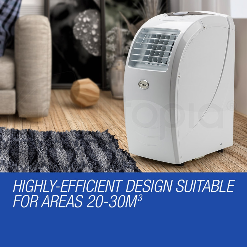CARSON 4in1 Portable Air Conditioner Reverse Cycle Heater Dehumidifier 21,000BTU by Carson