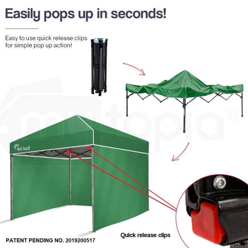 Red Track 3x3m Folding Gazebo Shade Outdoor Pop-Up Green Foldable Marque by Red Track