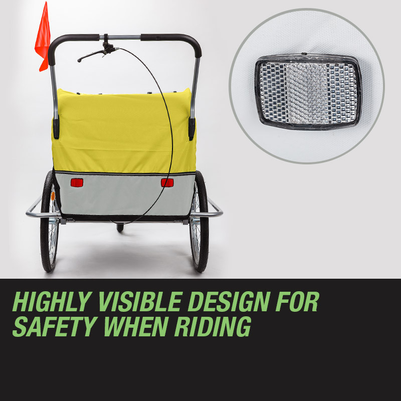Yellow Kids Bike Trailer & Jogger by Tag-Along