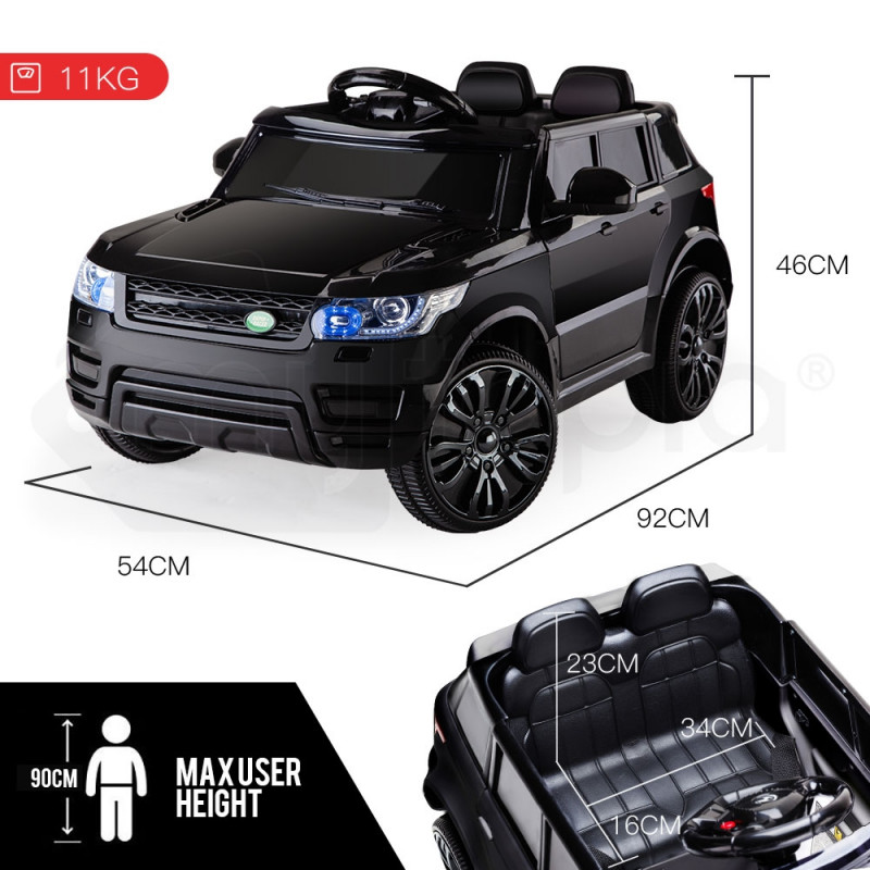 Rovo Kids Black 12V Remote Control Ultimate Electric Ride On Toy Cars by Rovo Kids
