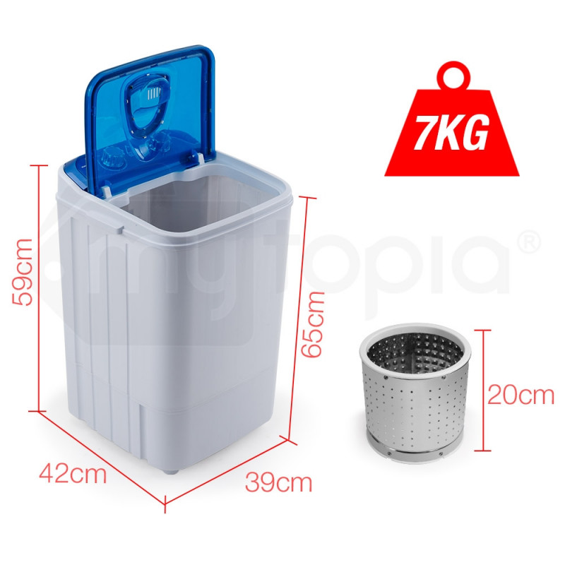 GECKO 4.6kg Mini Portable Washing Machine Camping Caravan Outdoor RV Boat Dry by Gecko