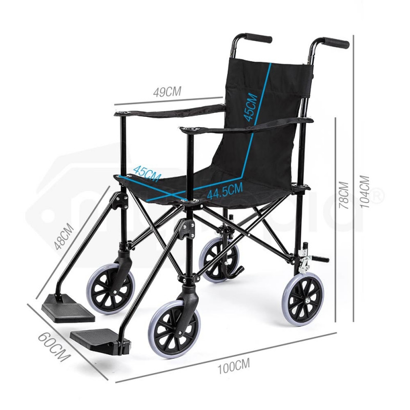 Folding Transport Wheelchair by eQuipMed