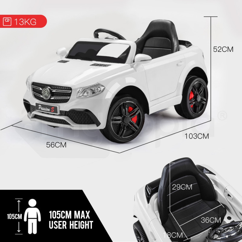 Mercedes Inspired White Kids Ride On Car - GLC 55 by Rovo Kids