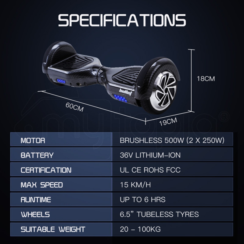 Carbon Fibre Style Self-Balancing Electric Scooter - SX-3000 by BULLET