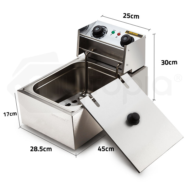 10L 2500W Electric Deep Fryer by Euro-Chef