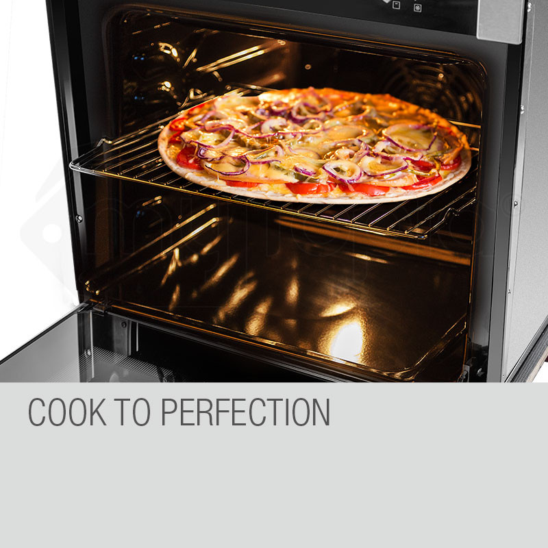 60cm Stainless Built-in 70L Grill 8 Function Fan Forced Electric Wall Oven by EuroChef