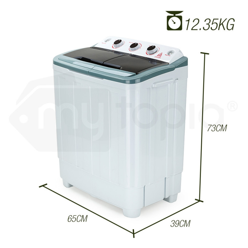 5kg Twin Tub Portable Washing Machine - GPW-6BK by Gecko