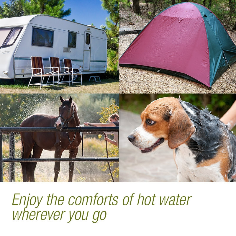 THERMOMATE Gas Hot Water Heater- Portable Shower Camping LPG Outdoor Instant 4WD by Thermomate