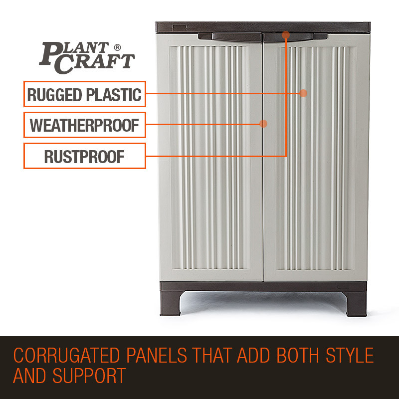 PlantCraft 91cm Lockable Outdoor Storage Cabinet by PlantCraft