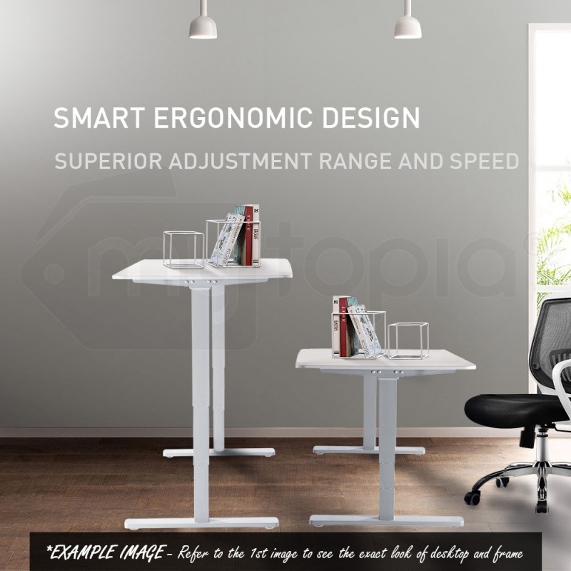Avante Matte White/Black 150cm Sit Stand Height Adjustable Standing Desk by Avante