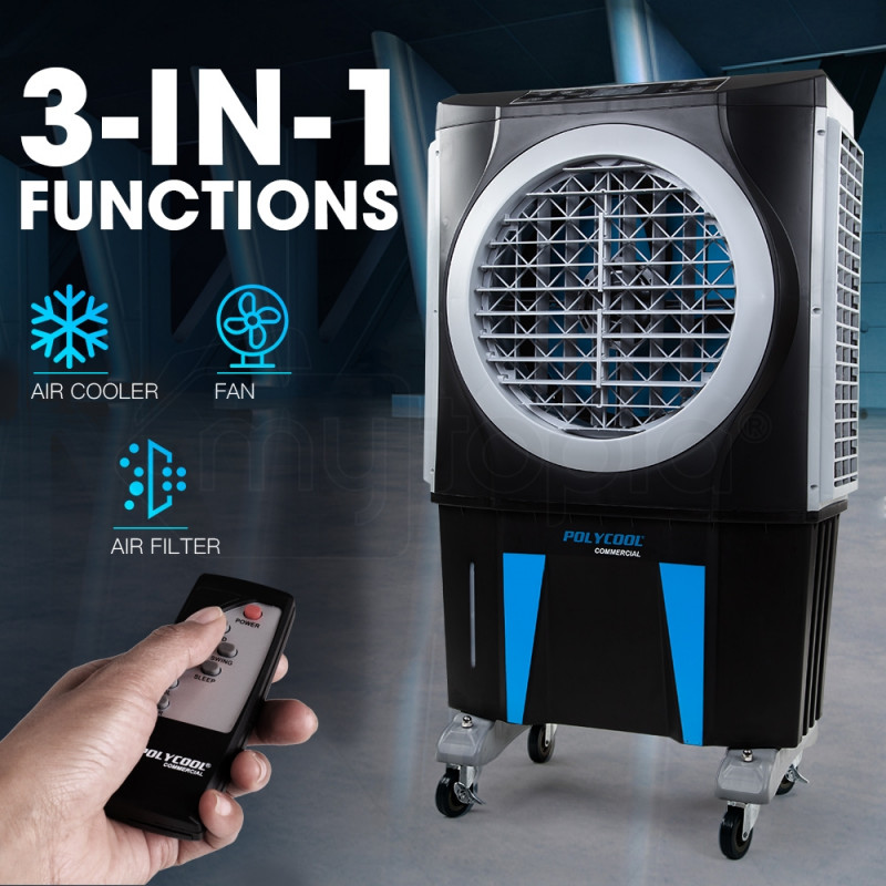 POLYCOOL 3in1 Evaporative Air Cooler Fan Portable Industrial Commercial Workshop by PolyCool