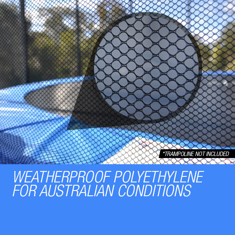 UP-SHOT 14ft Replacement Outdoor Trampoline Round Safety Net Enclosure 12 Pole by Up-Shot