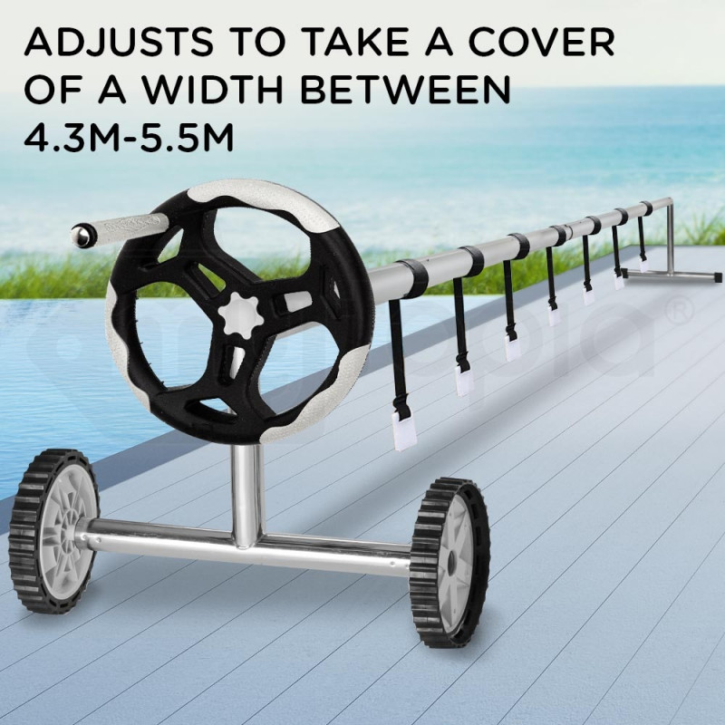 Aurelaqua 6.45m Swimming Pool Cover Roller with Locking System by Aurelaqua