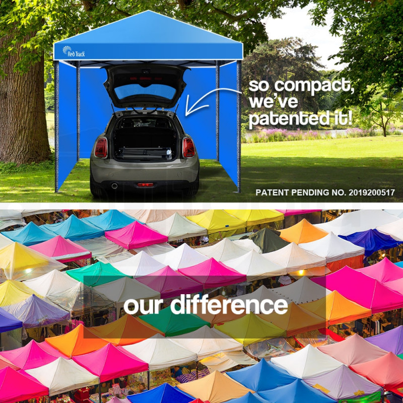 Red Track 3x3m Folding Gazebo Shade Outdoor Pop-Up Blue Foldable Marquee by Red Track