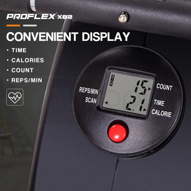 Proflex Black Compact Exercise Rowing Machine- X82 by Proflex