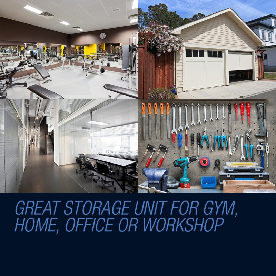 Baumr-AG Black/Grey 12 Door Steel Cabinet Gym Lockers  by Baumr-AG