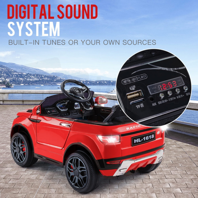 Rovo Kids Red  Kids Electric Ride-on Car - Evoque Inspired by Rovo Kids