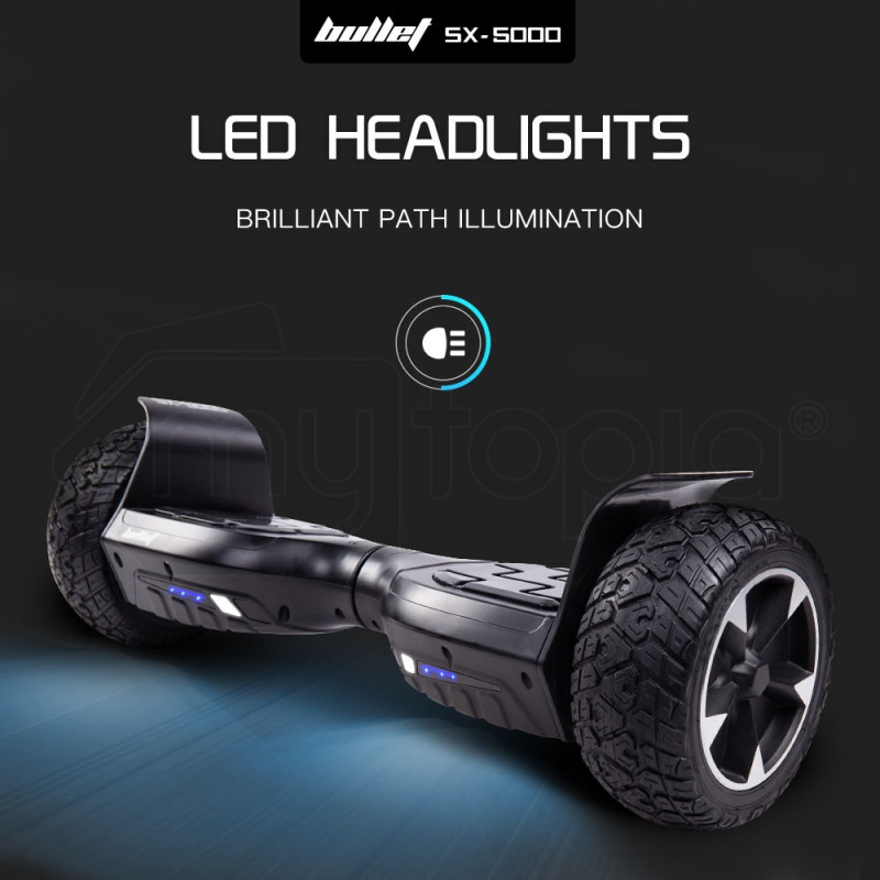 BULLET Hoverboard Scooter Off Road Balancing Electric All Terrain Skateboard by Bullet
