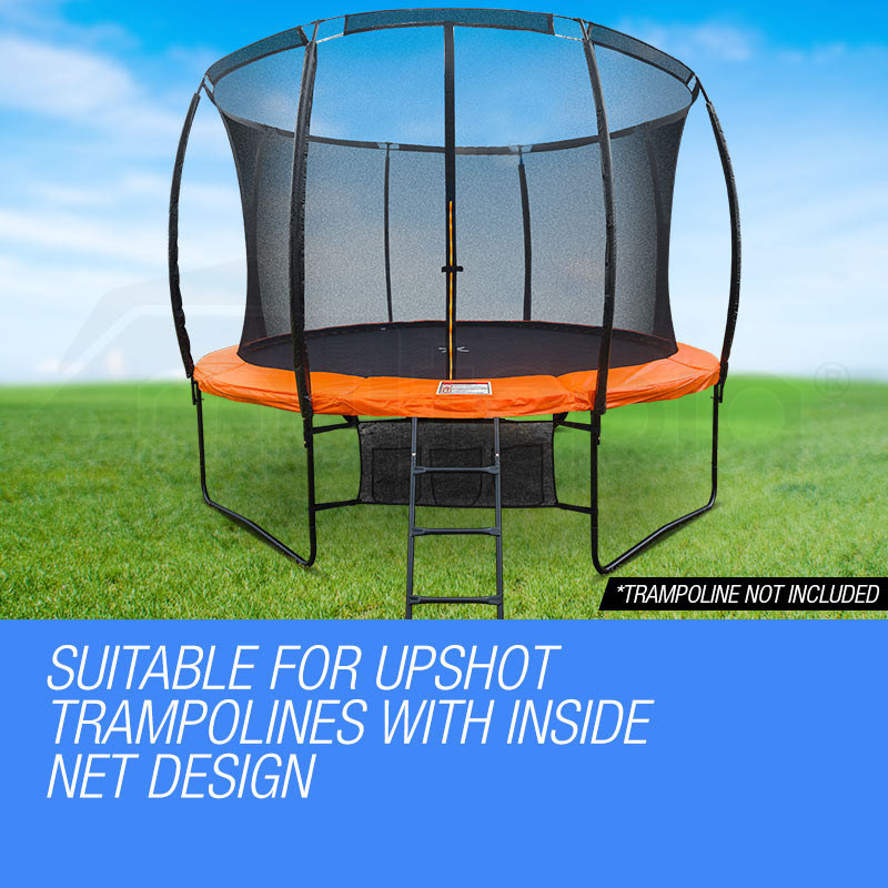 UP-SHOT 14ft Replacement Trampoline Inside Safety Net Spare Enclosure 8 Pole by Up-Shot