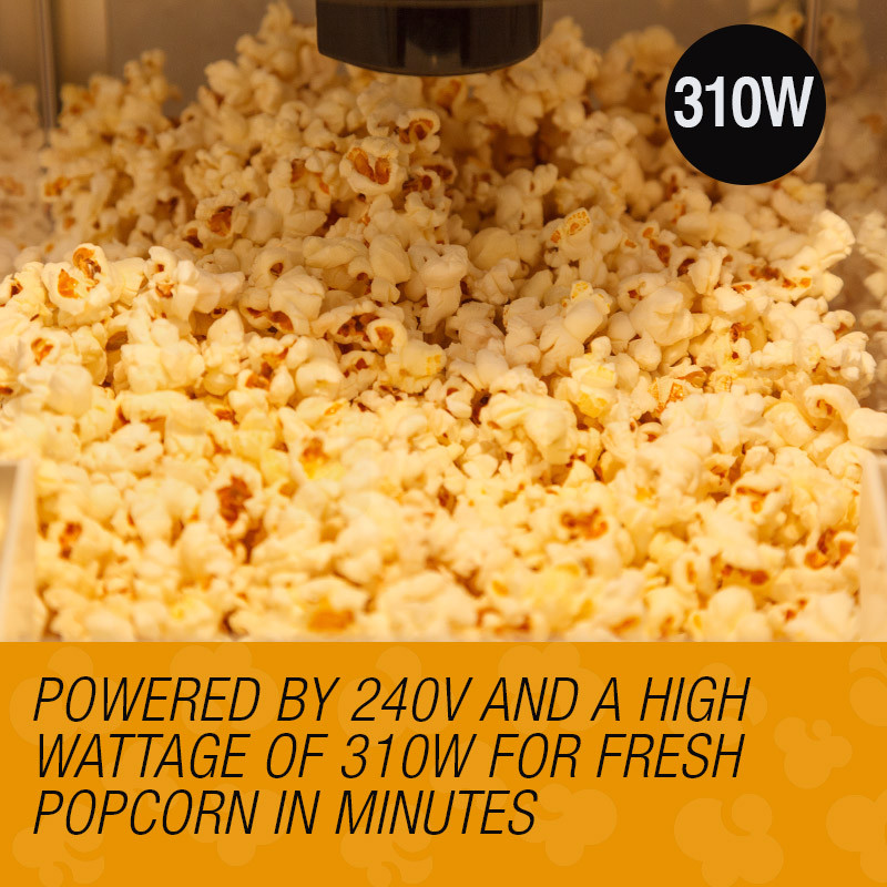 310W Electric Popcorn Machine - P400 by Euro-Chef