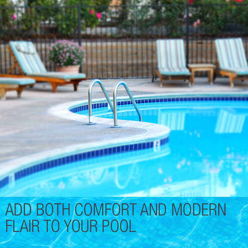 3 Wide Swimming Pool Ladder In-Ground Stainless Non-Slip Steps by Aurelaqua