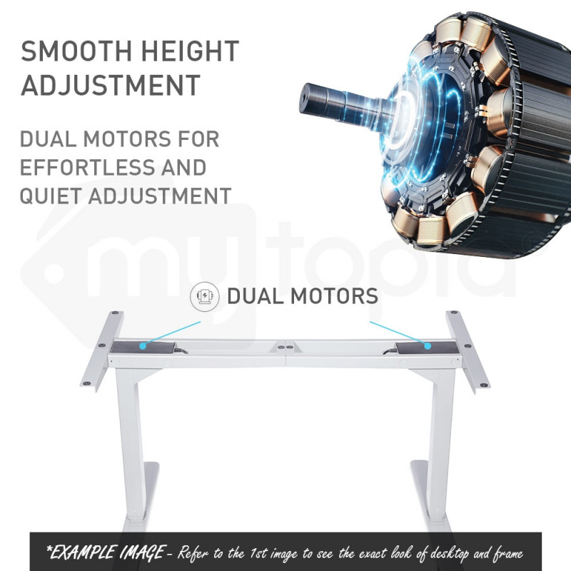 150cm Height Adjustable Standing Desk Electric Sit Stand Up Office Motorised WT by Avante