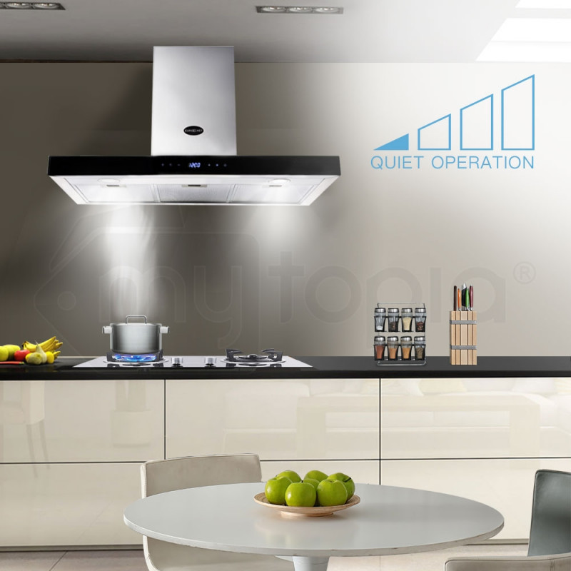 900mm Wall Mount Classic T-Style Rangehood by Euro-Chef