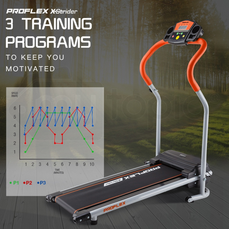 Proflex Black/Silver/Orange Treadmill - X-Strider by ProFlex
