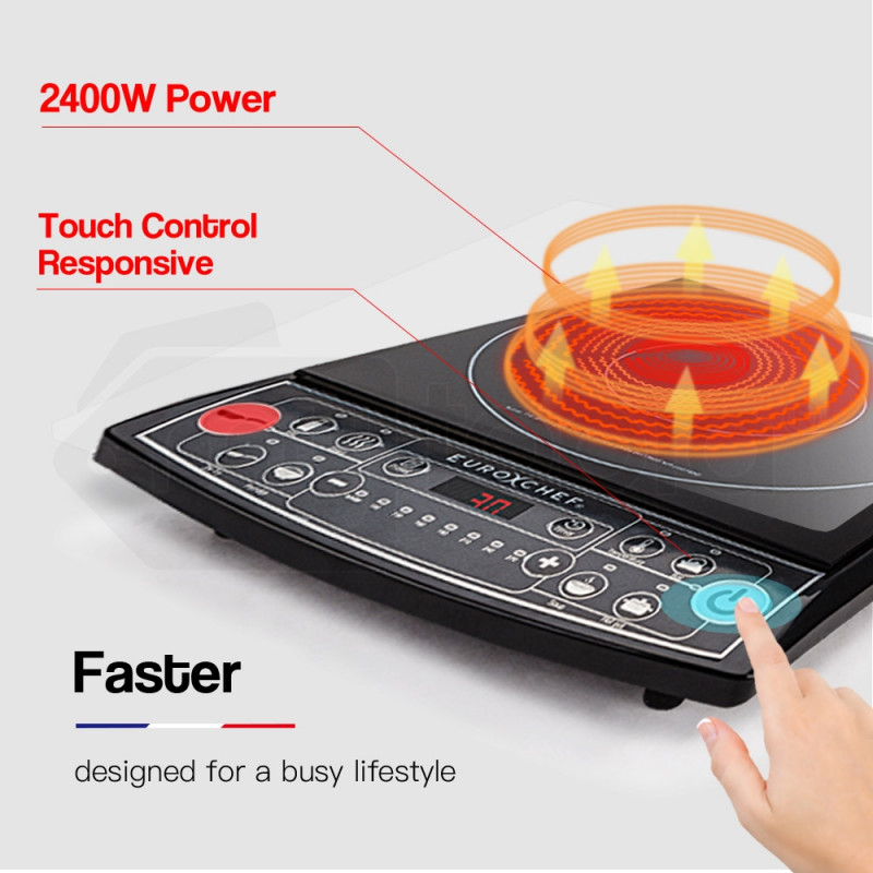 2400W Induction Cooktop - EUC-IN30R by Euro-Chef