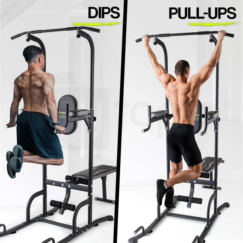 Power Tower Pull Up Weight Bench Dip Multi Station Chin Up Home Gym Equipment by Proflex