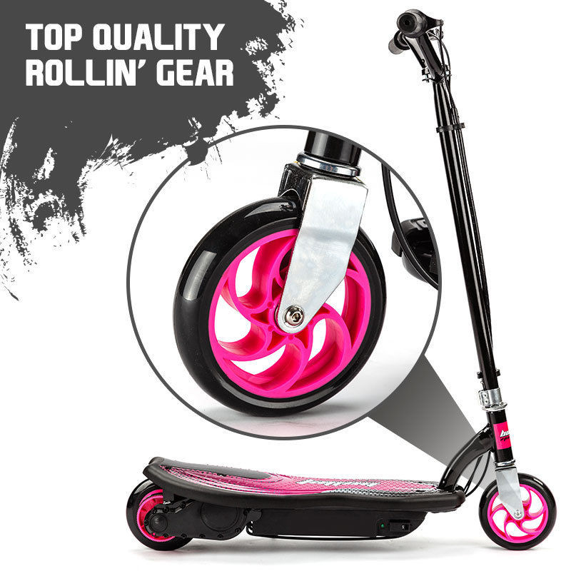 BULLET ZPS Kids Electric Scooter 140W Children Toy Pink Girls Battery Ride by Bullet