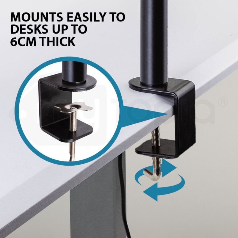 AVANTE Desk Monitor Stand 2 Arm - Dual Computer Holder Screen Riser Bracket by Avante